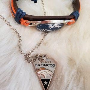 Jewelry - Denver Broncos Jewelry Set